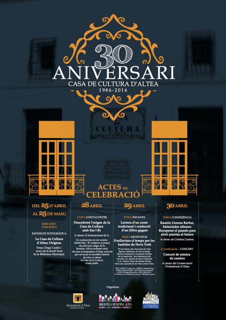 30AniversariCasaCulturaAltea CartellWeb
