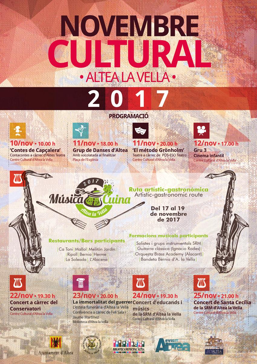Novembre Cultural Altea La Vella 2017